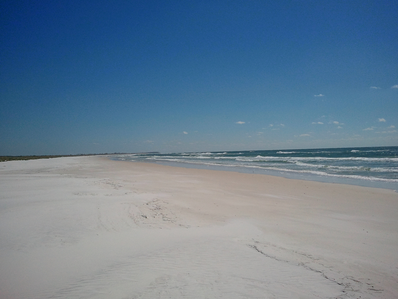 Beach facing south